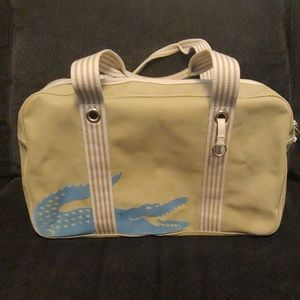 Lacoste canvas weekends bag